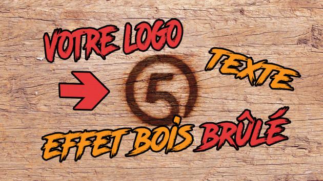 créer cet effet de bois brûlé pour votre logo