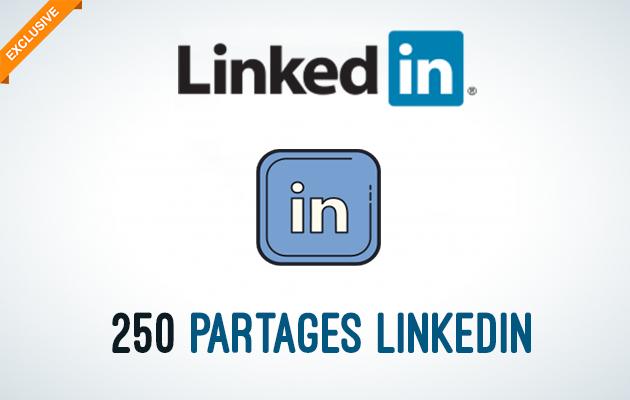 ajouter 250+ Partages de votre Lien/Message sur Linkedin