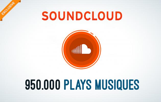 ajouter 950.000 Lectures de vos Musiques Soundcloud