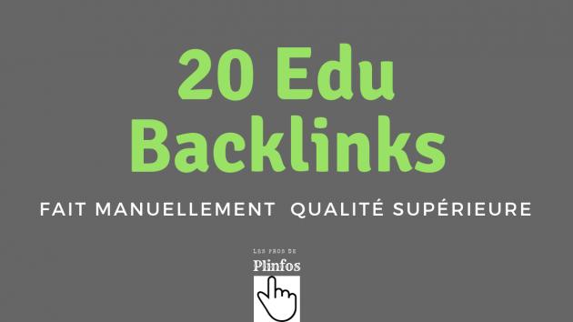 créer manuellement 20 .EDU  backlinks