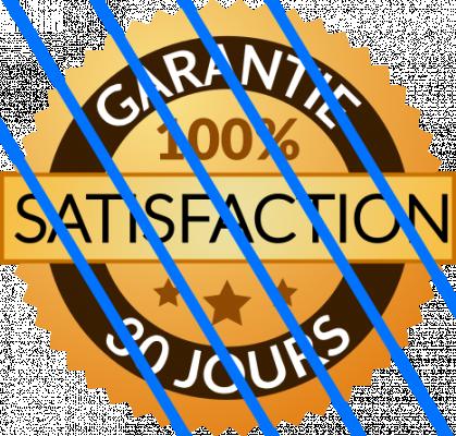 vous fournir un logo Garantie 100% Satisfaction 30 Jours