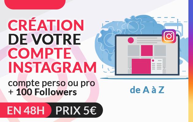 vous creer votre compte instagram personnel ou professionnel