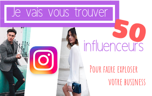 rechercher 10 influenceurs Instagram de qualité