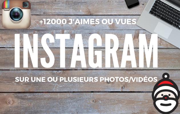 ajouter 12 000 likes ou vues réels sur une ou plusieurs photo(s)/vidéos Instagram
