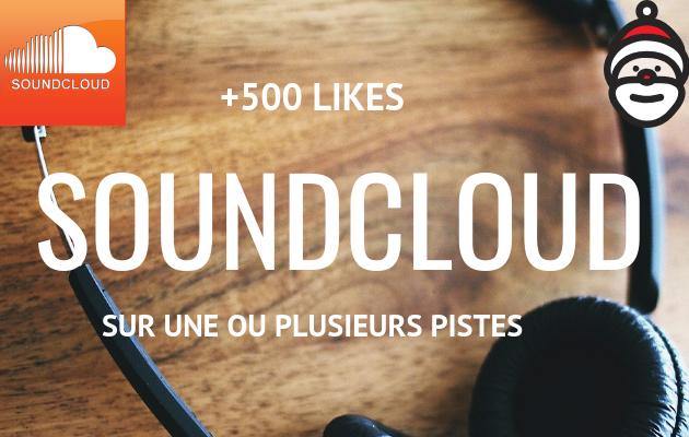 vous fournir 500 j'aimes (likes) sur une ou plusieurs de vos chansons sur SoundCloud