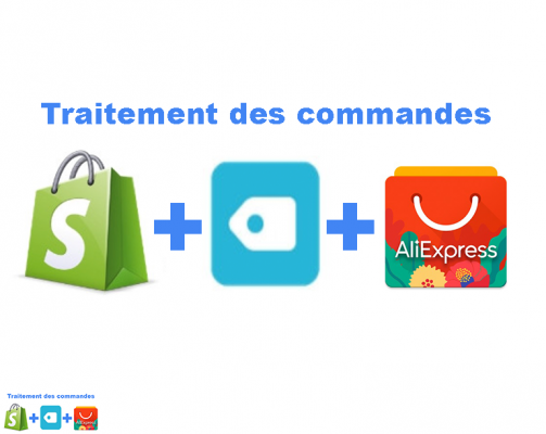"faire ""Order products on Aliexpress"" de 30 commandes Shopify"