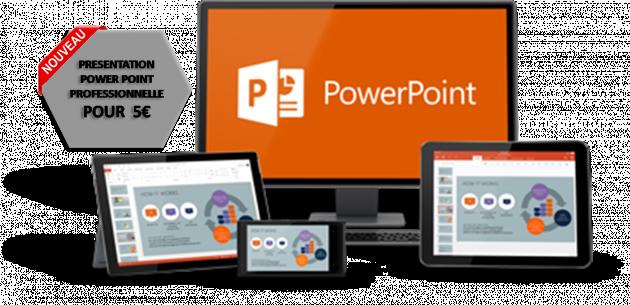 créer pour votre projet un powerpoint professionel et personnalisé
