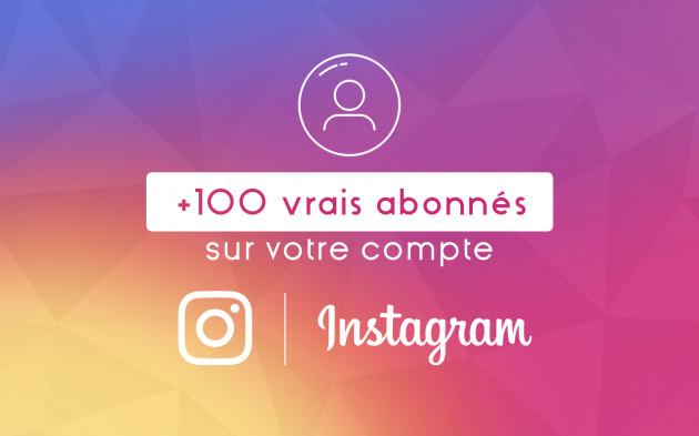 ajouter 100 vrais abonnés sur votre compte Instagram