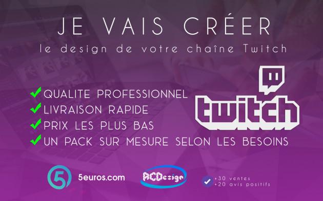 créer le design de votre chaîne Twitch