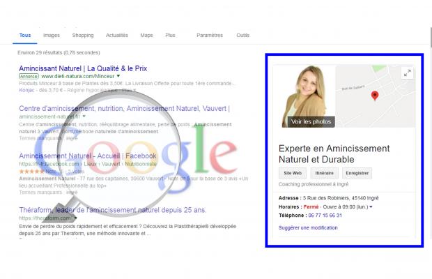 rendre visible votre site sur la droite de Google sous 24 h