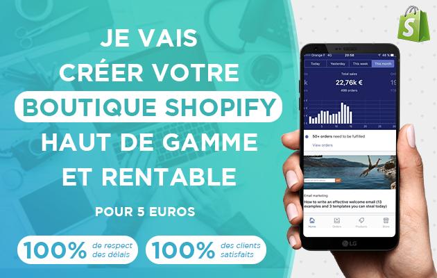 créer Votre Boutique Shopify Haut de gamme et rentable
