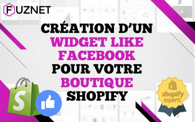 créer un widget Facebook Like pour votre boutique Shopify