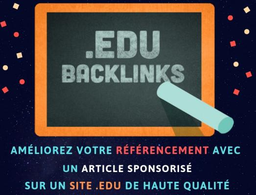 écrire et publier un article sur un site .edu Lien DOFOLLOW  DA +80