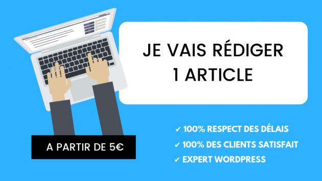 rédiger un article optimisé SEO pour votre blog de 400 mots