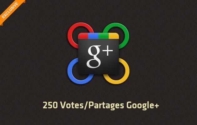 ajouter 250 Votes & Partages Google Plus (+) sur votre page