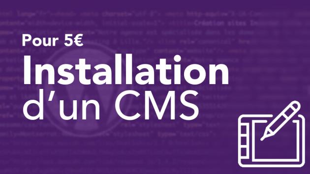 installer un CMS (WordPress, Joomla, Prestashop..)