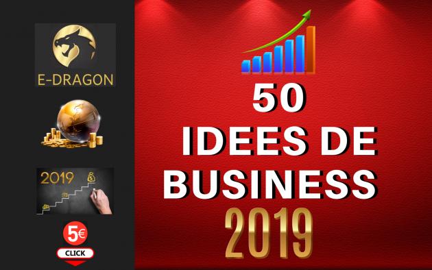 fournir 50 idées de Business  2019