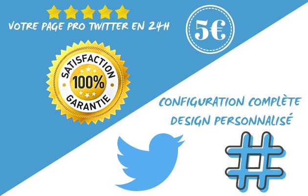 créer votre page Twitter PRO et attractive en 24h