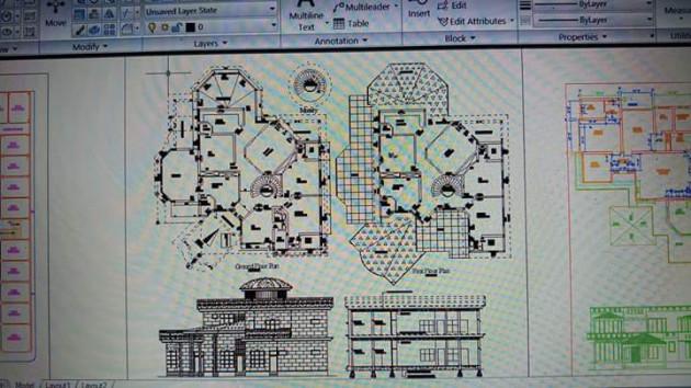 je vais concevoir les plans architecturaux en 2d et 3d