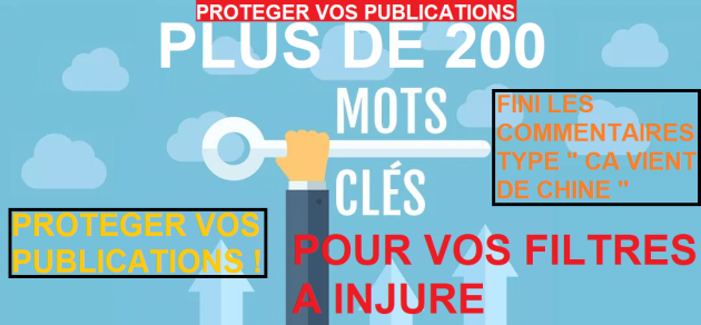 """t'envoyer une liste complète 200 MOTS """"filtre à injure"""" pour tes publication et pub"""