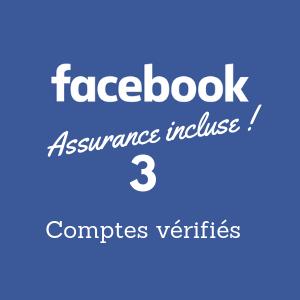 vous créer 3 comptes Facebook vérifiés par email et inclure l'assurance Otbooster*