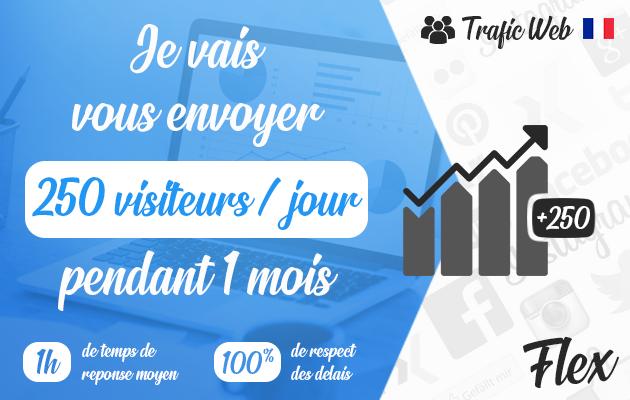 vous envoyer 250 visiteurs français  par jour pendant 1 mois