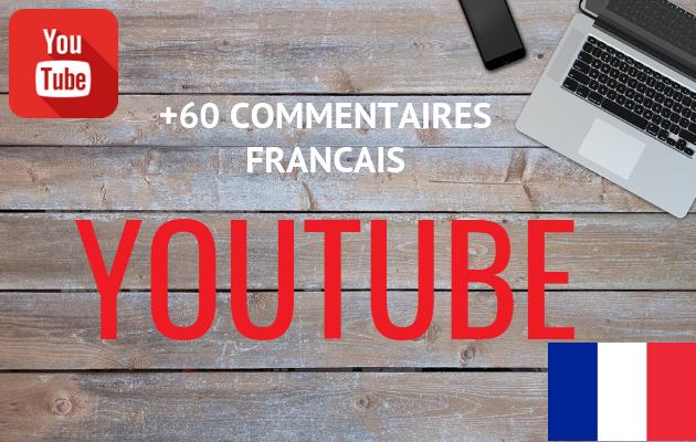 ajouter 60 commentaires FRANCAIS YOUTUBE