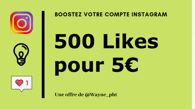 vous apporter 500 Likes sur une photo instagram de votre choix