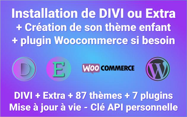 vous livrer et installer le Thème Premium DIVI + Builder pour votre site Wordpress