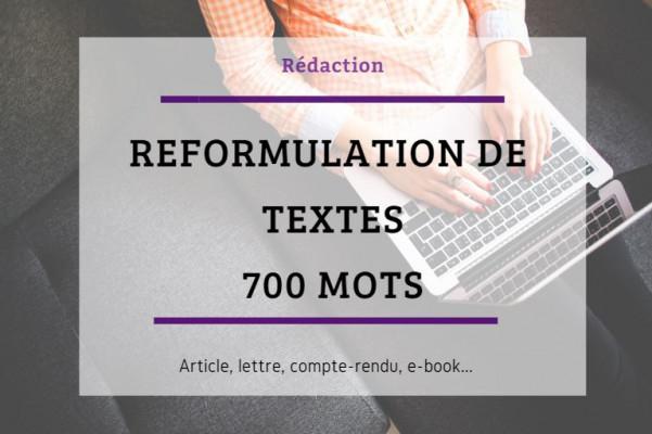 réécrire et reformuler votre texte de 700 mots