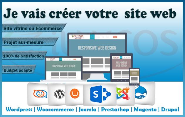 installer votre site internet (Joomla, Wordpress, Woocommerce, Prestashop etc)
