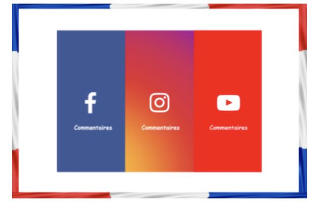 vous fournir 20 commentaires français sur Facebook, YouTube ou Instagram