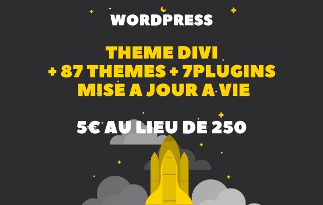 donner le Thème WordPress Divi + 87 Thèmes + 7 Plugins