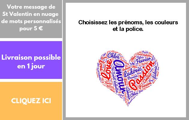 créer votre message de Saint Valentin personnalisé