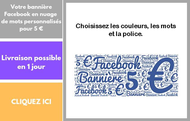 créer votre bannière Facebook en nuage de mots personnalisés