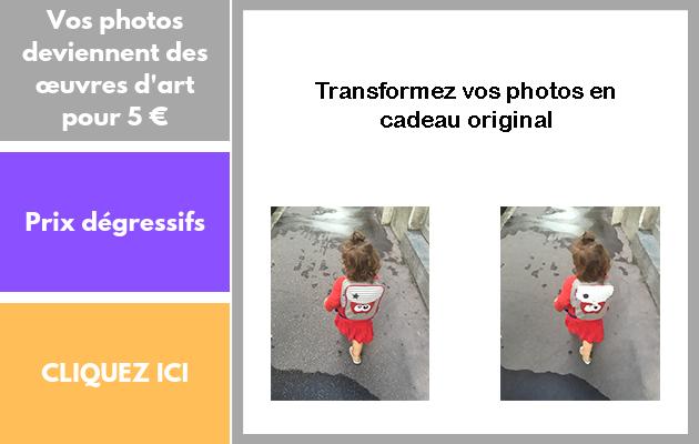 transformer votre photo en tableau d'artiste
