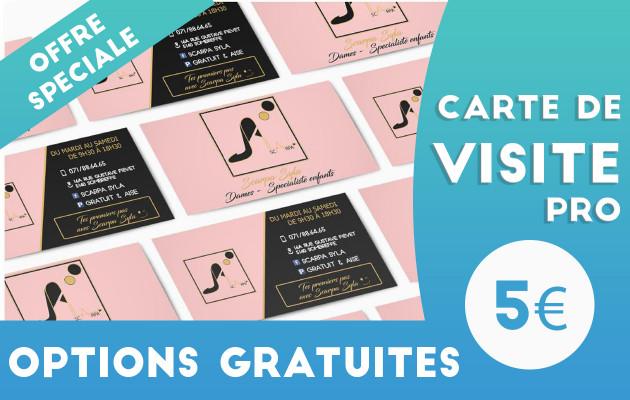 créer votre carte de visite prête à être imprimée