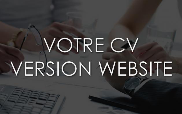 créer votre CV version website