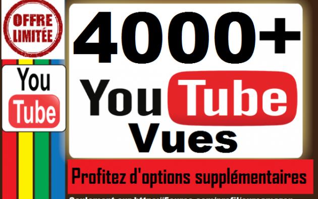 vous ajouter plus de 3000 vues pour votre vidéo sur Youtube