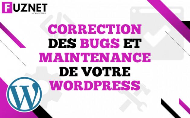 corriger un bug / faire la maintenance de votre site Wordpress
