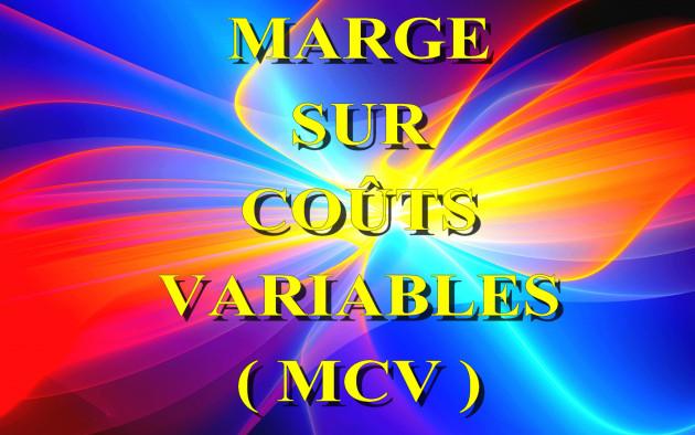 calculer la Marge sur Coûts Variables ( MCV ) de votre activité professionnelle