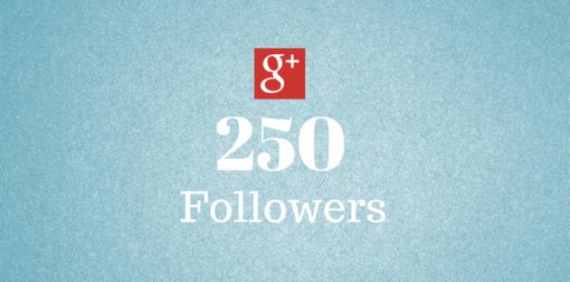 ajouter 250 abonnés à votre profil sur Google+