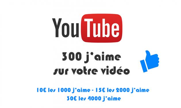 ajouter 300 vrais j'aime sur votre vidéo YouTube