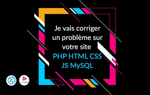 corriger un problème dans votre code PHP HTML & CSS  et wordpress