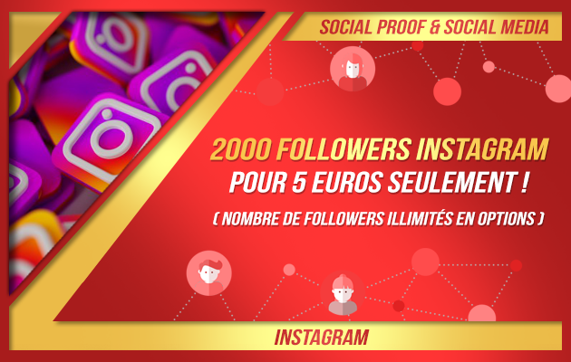 ajouter 2000 followers à votre compte Instagram