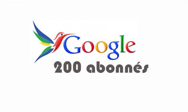 ajouter 200 abonnés à votre profil Google+