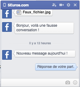 vous créer une fausse conversation Facebook