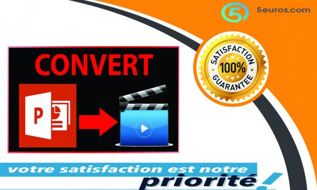 vous Convertir votre présentation PowerPoint en vidéo HD