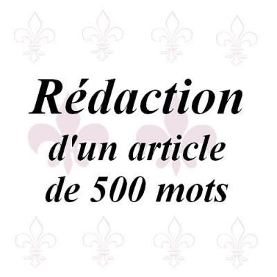 rédiger des articles de 500 mots