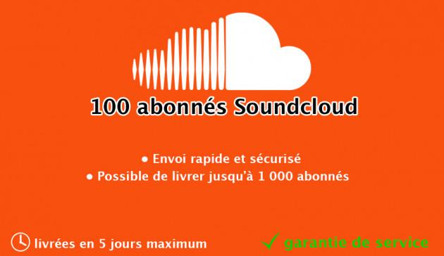 ajouter 100 abonnés à votre profil Soundcloud